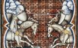 Il·lustració del manuscrit il·luminat 'Grandes chroniques de France' (1375) que representa un episodi de la batalla de Muret