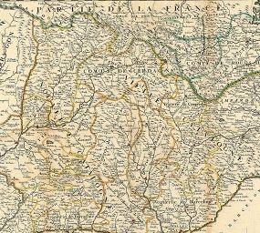 Mapa francès de les vegueries catalanes