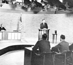 El primer debat televisat de la història, amb John F. Kennedy i Richard Nixon