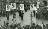 Manifestació per celebrar la caiguda de Gijón