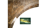 Micromostra extreta el 2009 de les pintures murals de Sixena amb símptomes de degradació