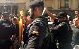 Agents de la Guàrdia Civil davant la Conselleria d'Exteriors, dimecres 20 de setembre -  Redacció