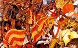 Tremp d'ou sobre taula de Marzal de Sas de la batalla del Puig, en què Jaume I va conquerir El Puig a las tropes musulmanes