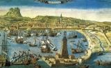 Barcelona's harbor in the 18th Century