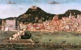 Taula Strozzi on es mostra una vista de Nàpols el 1462, amb l'arribada de la flota de Ferran I després de la batalla d'Ischia contra Joan d'Anjou