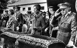 Francisco Franco, Carmen Polo, el rei Joan Carles i la reina Sofia