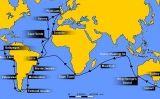 Mapa del viatge del Beagle