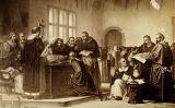 Galileu en el seu judici contra la Santa Inquisició