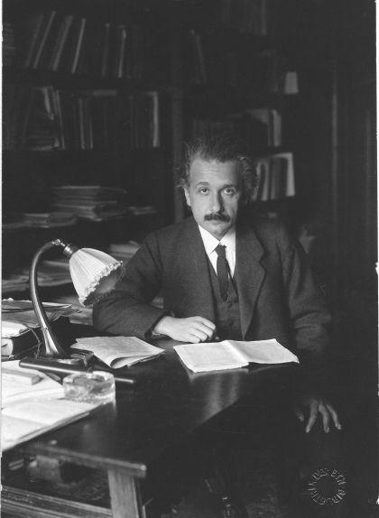 Fotografia d'Albert Einstein el 1920