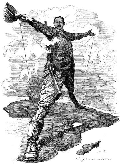 Caricatura de Cecil John Rhodes