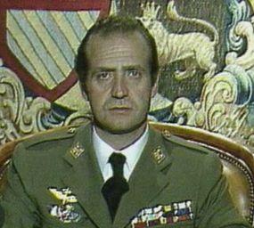 Joan Carles I durant el seu discurs del 23 de  febrer de 1981