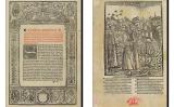 Dues pàgines del 'Blanquerna' de Ramon Llull, obra en què apareix la primera referència que es té de les beguines als Països Catalans