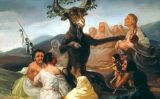 Detall del llenç 'El aquelarre', un dels sis quadres de bruixeria pintat per Francisco Goya a finals del segle XVIII