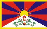 Bandera no oficial del Tibet