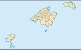 Mapa de les Illes Balears