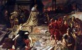 Neró es mira l'incendi de Roma -  Carl Theodor von Piloty