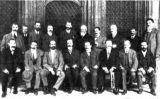 Parlamentaris que defensaren el projecte de Mancomunitat, en una fotografia del 1911
