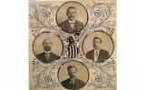 Els presidents de les quatre Diputacions catalanes, que van formar la ponència que va redactar les bases de la Mancomunitat
