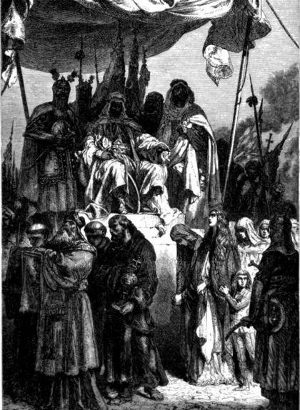 Els cristians de la ciutat santa desfilen davant Saladí
