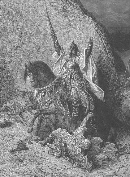Representació de Gustave Doré (segle XIX) de Saladí victoriós