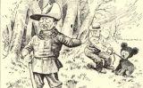 Caricatura que representa l'escena de la cacera de Theodore Roosevelt -  Clifford Berryman