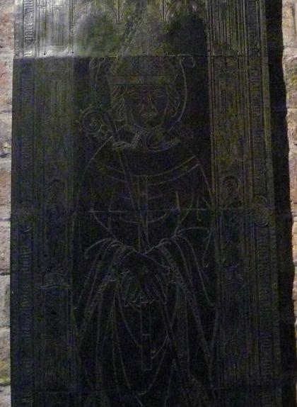Detall de la làpida sepulcral de Pere de Sagarriga