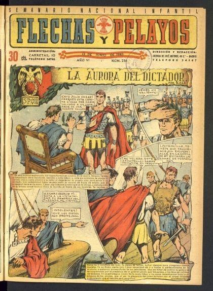 """Número 236 de de 'Flechas y Pelayos', el """"semanario nacional infantil"""""""