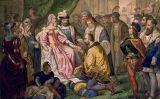 Cristòfor Colom davant els Reis Catòlics a les corts de Barcelona, de V. Turgis (s. XIX)