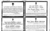 Esqueles de víctimes de l'atemptat del Liceu publicades a 'La Vanguardia' el dijous 9 de novembre de 1893