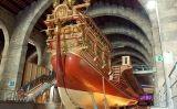 La galera 'La Reial' que es conserva a les Drassanes, seu del Museu Marítim de Barcelona