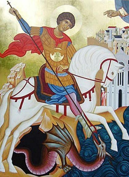 Icona de sant Jordi matant el drac, de Reggio de Calàbria