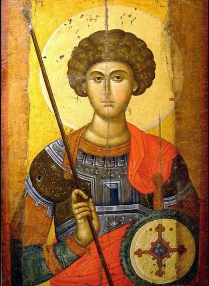Icona de sant Jordi (segle XIV), provinent d'un obrador de Constantinoble