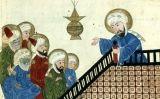 Il·lustració del segle XV d'una còpia d'un manuscrit d'al-Biruni que representa Mahoma predicant