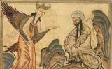 Mahoma rebent l'aparició de l'arcàngel Gabriel en una miniatura iraniana del segle XV