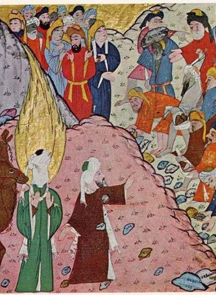 Abu Bakr, el sogre de Mahoma, el defensa davant les agressions a la Meca