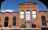 La façana del Vapor Aymerich, seu del mNACTEC de Terrassa