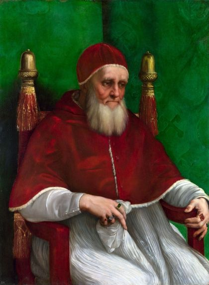 Retrat del papa Juli II, de Raphael
