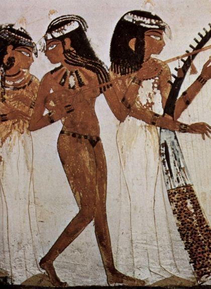 Músics en un gravat a la tomba de Najt