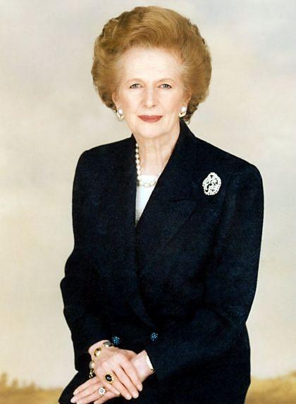 Retrat de Margaret Thatcher, la primera ministra del Regne Unit des del 1979 fins el 1990