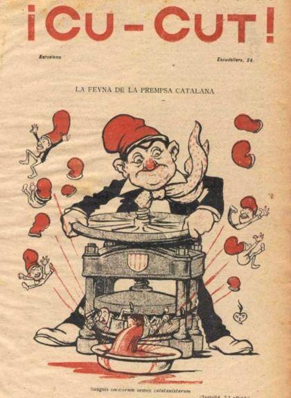 Primera portada del 'Cu-Cut!' amb data del 2 de gener del 1902