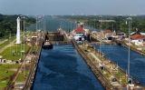 Fotografia de les rescloses del canal de Panamà