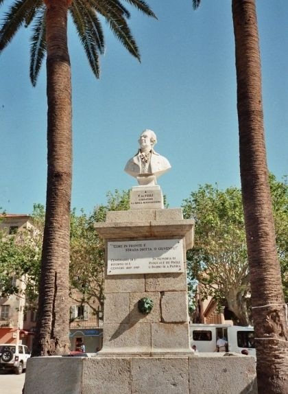 Bust de Pasquale Paoli a l'Ìsula (Còrsega)