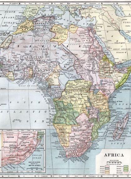 Mapa d'Àfrica després de la seva colonització
