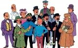 Els personatges de Tintín, amb els qui Dalí va aparèixer a la versió francesa de 'Tintín i l'Art Alfa'