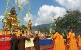 Celebració del Vesak al monument de Barabodur, a l'illa de Java, a Indonèsia