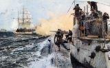 Un submarí alemany ataca un veler britànic davant la costa escocesa