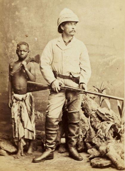 Henry Morton Stanley amb Kalulu, un esclau africà adoptat pel periodista