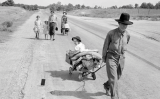 Una família fuig per causa de la tempesta de pols. Dorothea Lange