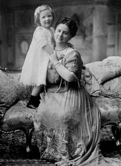 Retrat de la reina Guillermina amb la seva filla Juliana