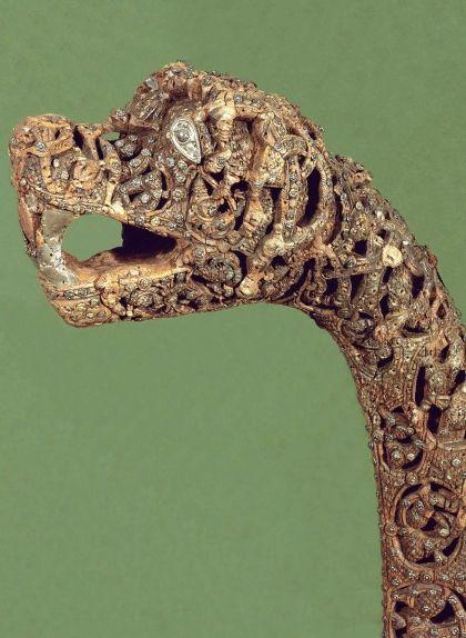 Un mascaró de fusta que representava la figura del 'drek'